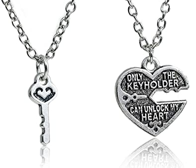 Best wing jewelry only the keyholder can unlock my heart heart key best wing jewelry quotonly the keyholder can unlock my heartquot heart key pendant aloadofball Image collections