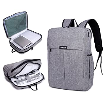 c853d7eaa9 Garybank Waterproof Laptop Backpack for Women Men Both Top Loader and Panel  Loader Slim Business Backpack