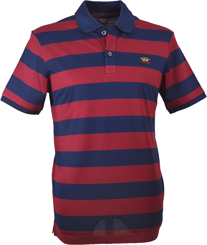 PAUL & SHARK C0P1012 - Polo para Hombre, Color Azul y Rojo Azul ...