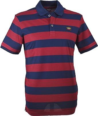 Paul & Shark C0P1012 - Polo para hombre, color azul marino y rojo: Amazon.es: Ropa y accesorios