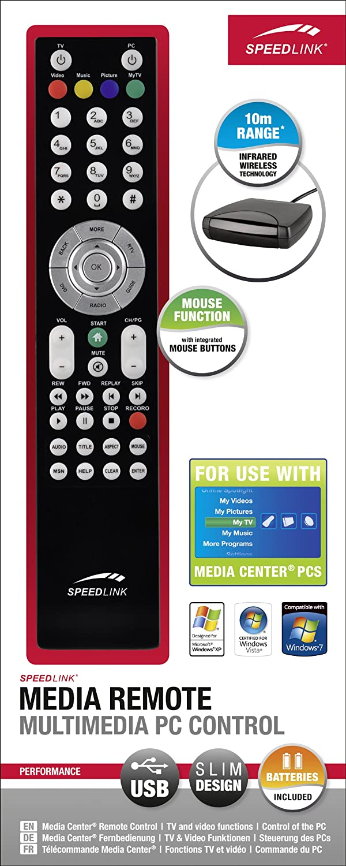 SPEEDLINK sl-6399-sbk Media Fernbedienung/ /Multimedia PC