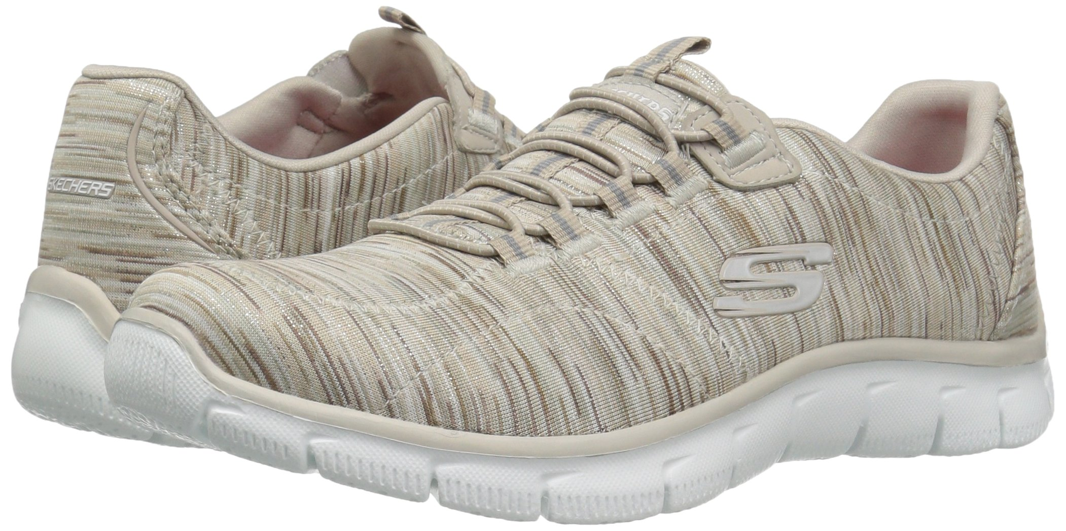 Skechers Women's Empire Game On Memory Foam Sneakers Shoes, Taupe, 6 B(M) US by Skechers (Image #6)
