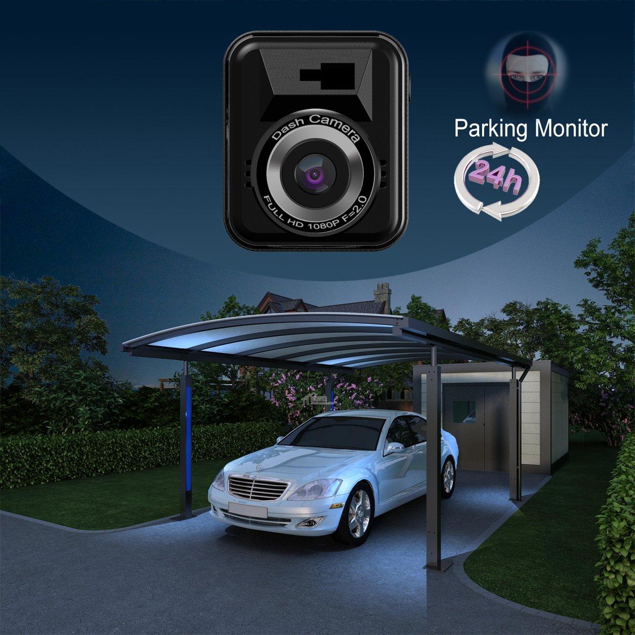 Dash cam per auto Byakov telecamera auto dash cam macchina fotografica Full HD 1920x1080p Schermo da 1,5 pollici Mini Dash Cam per auto 170 gradi Angolo auto Dash Cam