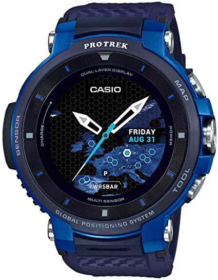 Amazon.com: CASIO PRO Trek WSD-F30-BU [PROTREK Smart Blue ...
