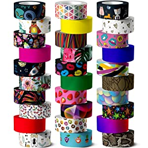 Washi Tape Set, 30 Rolls of 15 mm Wide Colored Masking Tape for Kids and ?dults, Scrapbooking Supplies, Decorative Tape for DIY Craft, Gift Wrapping, Bullet Journals, Planners, Party Decorations