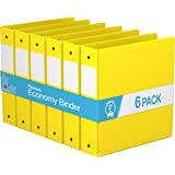 "Premium Economy, Round Ring, Binder, 6 Pack (2"", Yellow)"