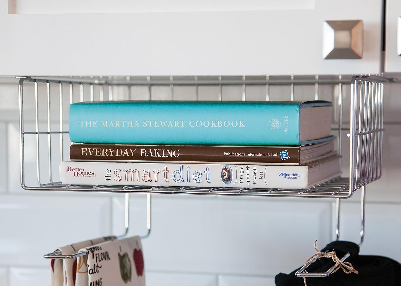 Amazon.com: IRIS Wire Under Cabinet Mountable Storage Basket: Home ...