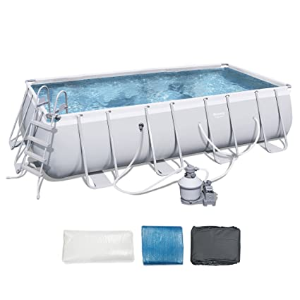 Amazon Com Bestway 18 X9 X48 Rectangular Frame Above Ground Pool