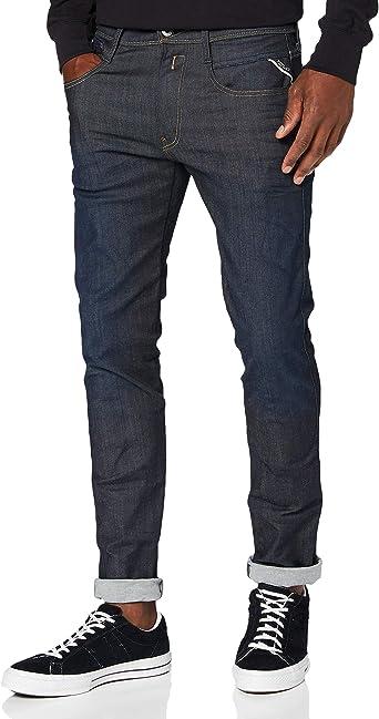 Replay Men/'s Anbass Hyperflex Jeans Blue