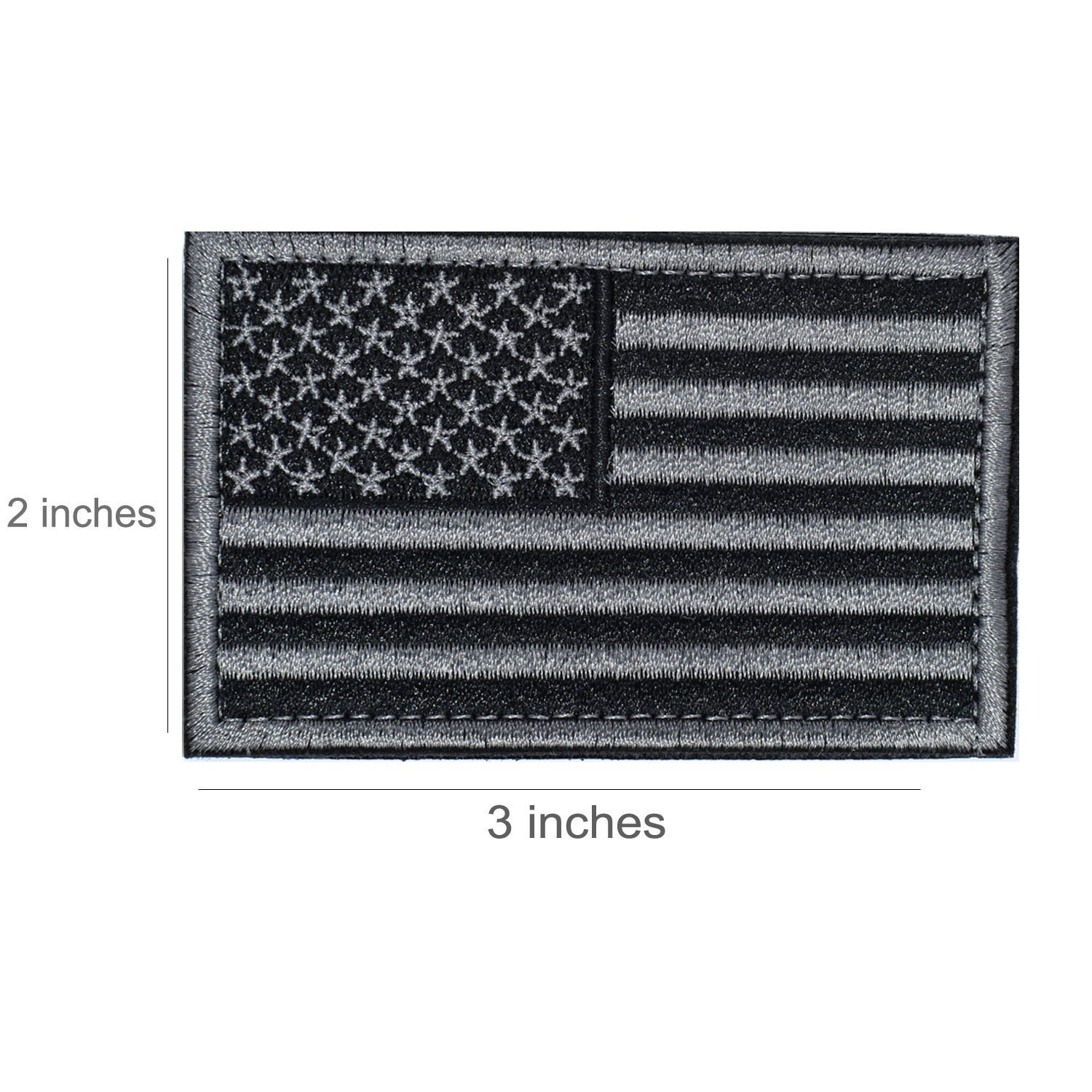 Black /& Gray American Flag US United States of America Military Uniform Emblem Patches 2 Pieces Tactical USA Flag Patch