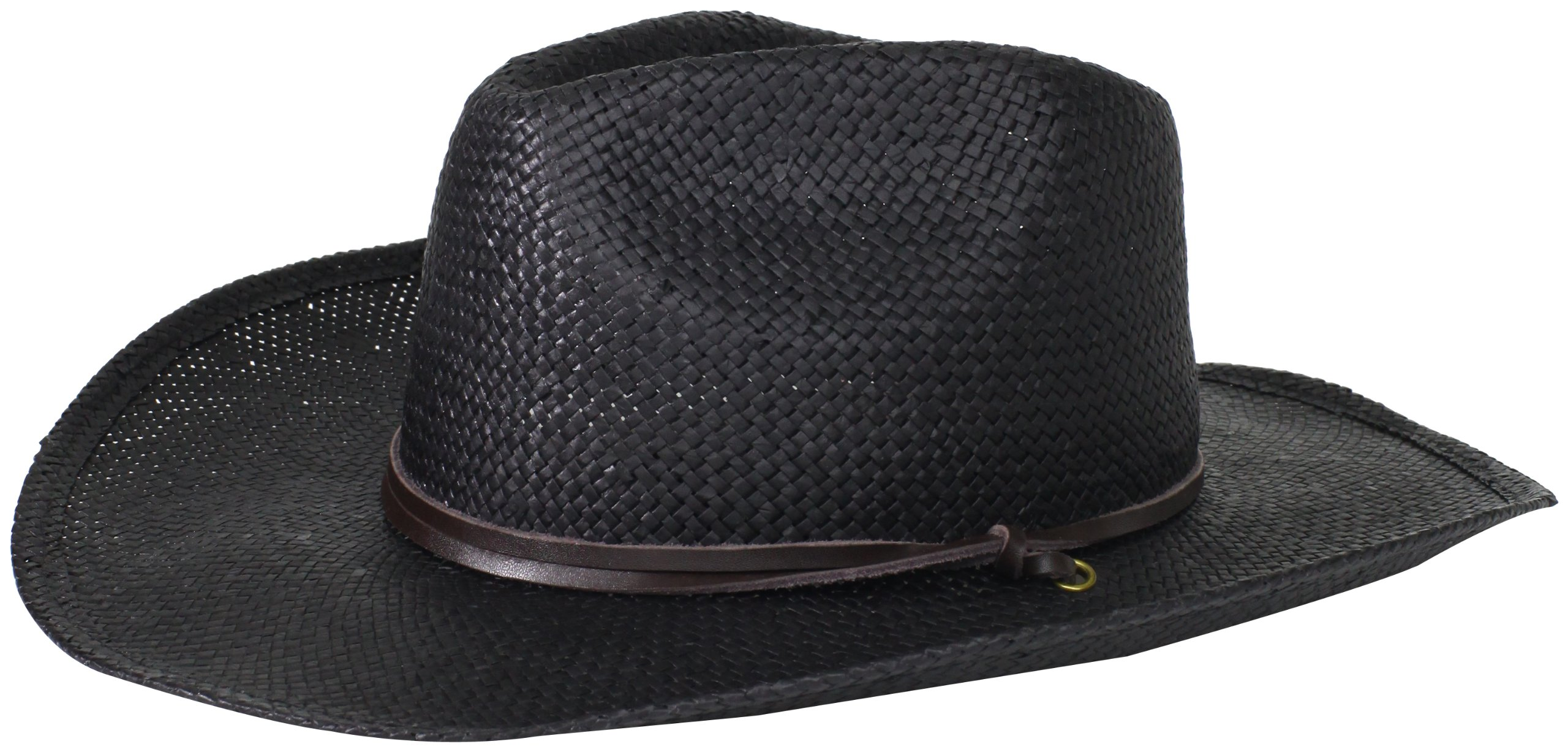 San Diego Hat Company Women's Soft Toyo Paper Cowboy Hat, Black, One Size