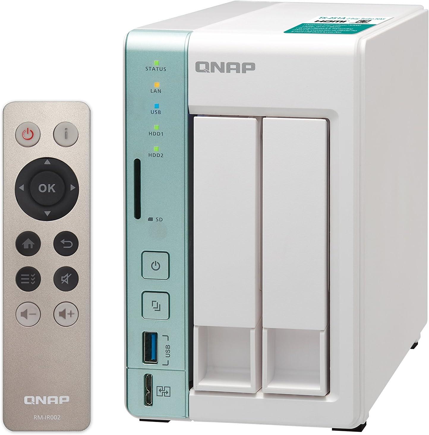 Qnap Ts 251a 4g 12tb 2 Bay Nas Lösung Installiert Mit Computer Zubehör