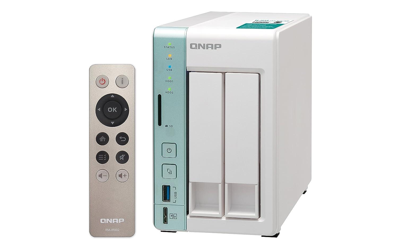 QNAP TS-251A-2G 8TB 2 Bay NAS Solución | Instalado con 2 x 4TB ...