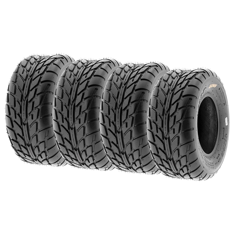SunF Sport Race Replacement ALL TERRAIN ATV UTV 6 Ply Tires 19x6-10 19x6x10 Tubeless A021, Set of 4
