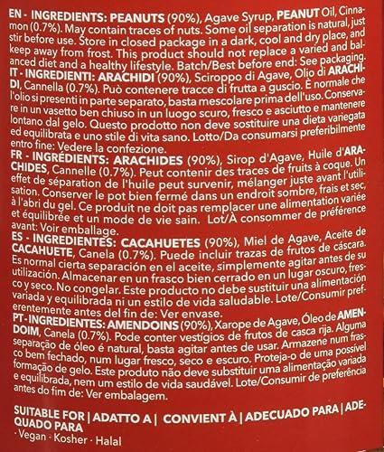 Prozis Crema de Cacahuete con Sabor a Rollo de Canela 250g - Textura Crujiente - Fuente Natural de Proteína - Apta para Dietas Veganas, Kosher y Halal - Sin ...