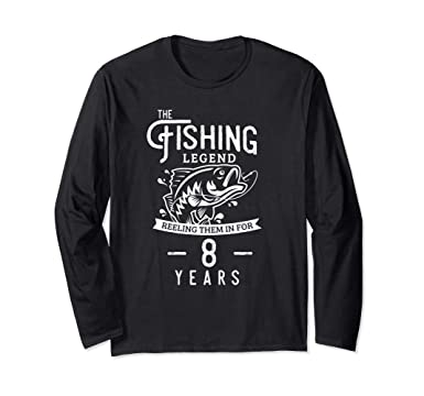 Unisex 8 Year Old Fishing Birthday Gift For Fisherman Boys Girls Small Black