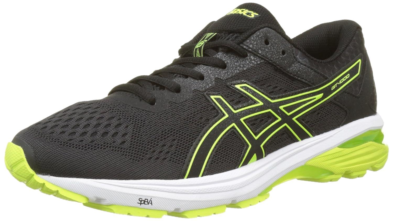 Asics Gt-1000 6, Zapatillas de Running para Hombre 44 EU|Negro (Black/Safety Yellow/Black 9007)