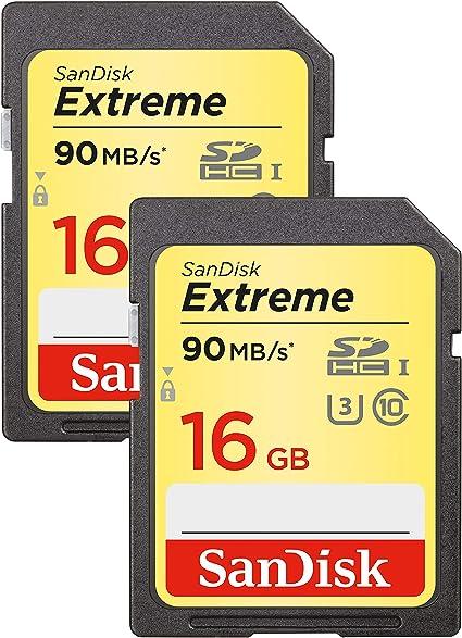 Sandisk Extreme 16gb Sdhc Uhs I U3 Memory Card Twin Computer Zubehör