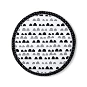 •Round Activity Playmat Scallop - Cloud Island - Black/White