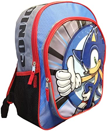"""16/"""" Kids/' Sonic the Hedgehog /& Friends Backpack with Detachable Lunchbox Bag"""