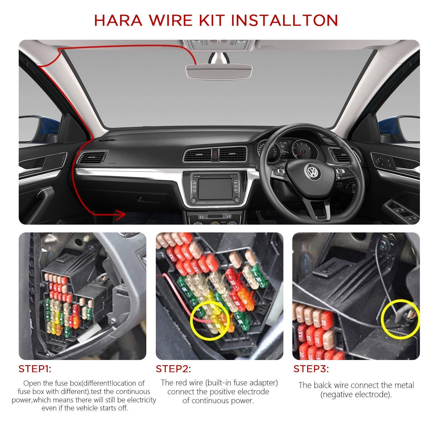 Mini Usb Hardwire Kit For Dash Cam Hard Wire Car Charger Fuse Box Adapter Cable 12v 24v To 5v Cameras Gps Dvr Power 35m 11ft