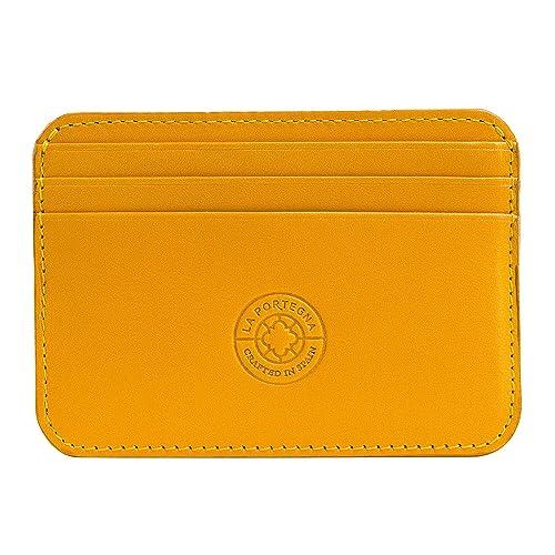 La Portegna - Cartera Billetero Humphrey de piel clásica diseño artesanal de alta calidad.: Amazon.es: Zapatos y complementos