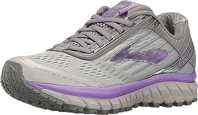 Brooks Women s Ghost 9 Grey Primer Grey Lilac Athletic Shoe  Amazon ... 864e7d0a9c