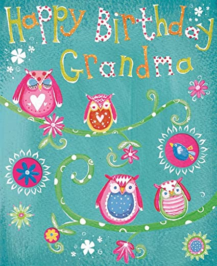 Tarjeta de cumpleaños - centellea abuela feliz cumpleaños ...