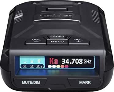 UNIDEN R3 EXTREME LONG RANGE Laser/Radar Detector, Record Shattering Performance, Built-in GPS w/ Mute Memory, Voice Alerts, Red Light & Speed Camera Alerts, Multi-Color OLED Display,Black