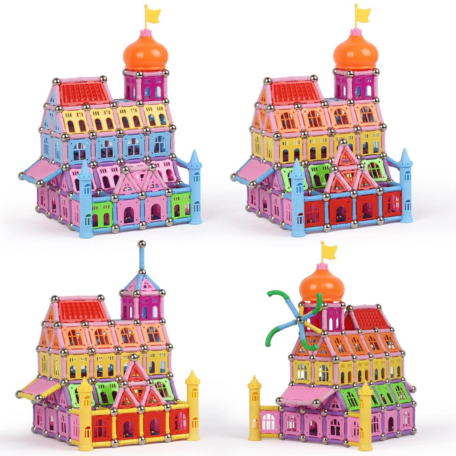 Witka Magnetic Castle Building Playset 288 Pieces Fun Educational