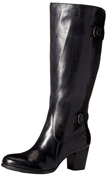 Amazon.com | Born Womens Vita Wide Calf Black Boot - 9.5 | Knee-High