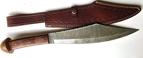 ZYZO Custom Hand Made Forged 17.3 Bowie Hunting Knife Damascus Blade