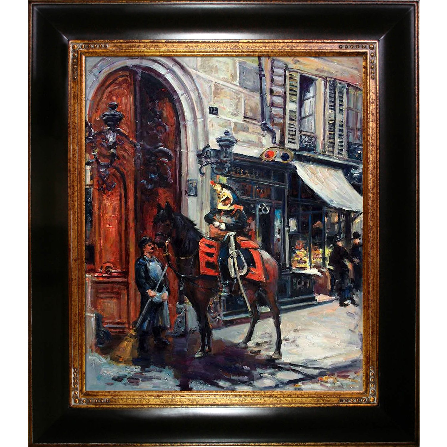 overstockArt La Pastiche The Dispatch Bearer 1879 by Boldini Artwork with Opulent Frame