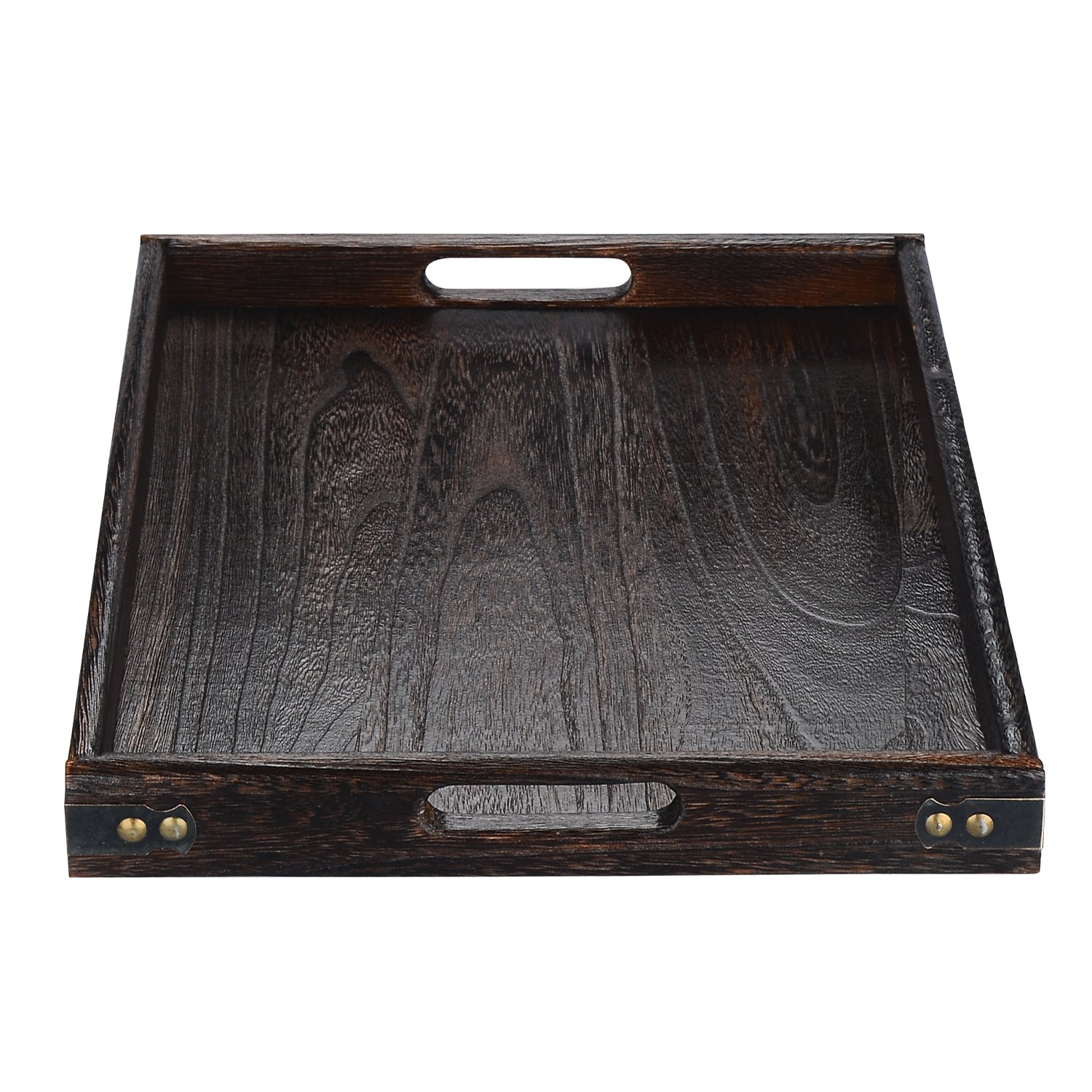 17 by 12-Inch R.F Outlet RF16036L JPCRAFT Simply Espresso Brown Rectangle Wooden Serving Tray