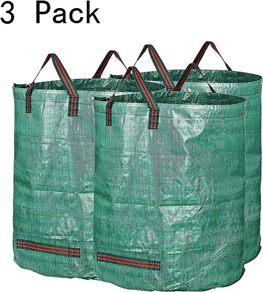 Bolsa de jardín 272L Bolsa de Basura de jardín PE sólida - Independiente y Plegable - Bolsas de Basura para Basura de jardín Follaje Green Lawn Cup, 3pack: Amazon.es: Jardín
