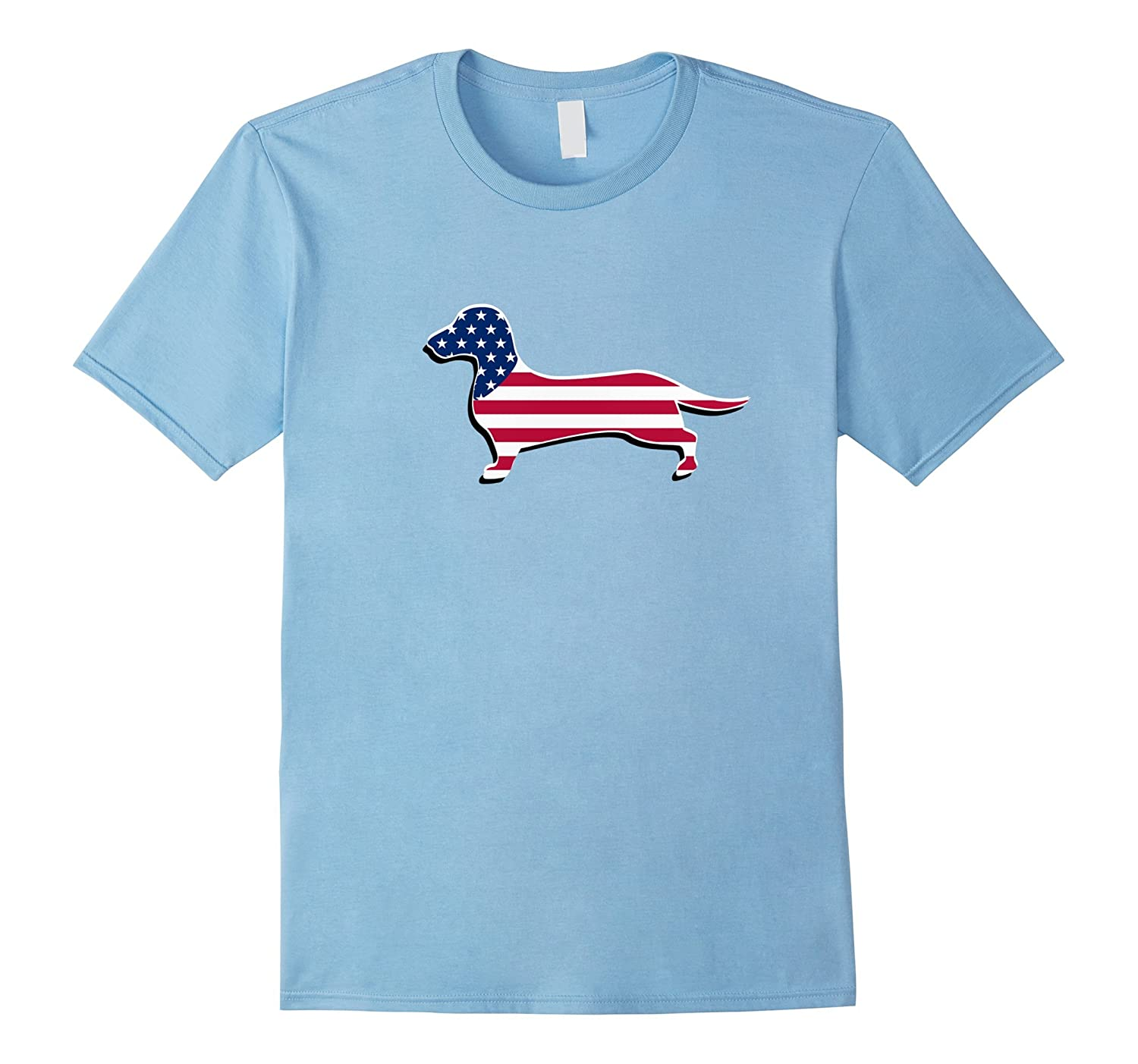 Dachshund USA Flag Shirt Funny Dog 4th of July Outfit Top