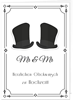 3d Hochzeitskarte Ehepaar 2 Manner 3d Pop Up Handgefertigt Ehe Fur