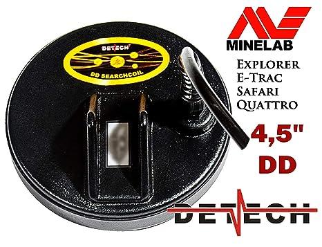 DETECH Excelerator - Bobina DD de 11,4 cm para detectores de Metales Minelab E