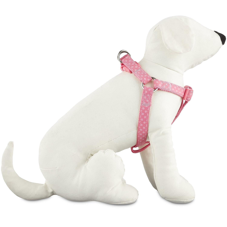 Large Good2Go Pink Polka Dot Step-in Dog Harness, Large