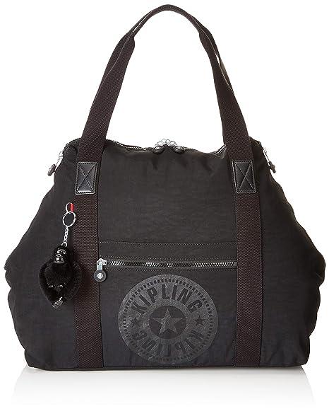 785d50cfc Kipling Art M Bolsa de Tela y Playa, 58 cm, 26 Liters, Negro (Black ...