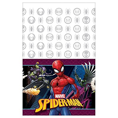 Amscan Spiderman Webbed Wonder Table Cover: Toys & Games