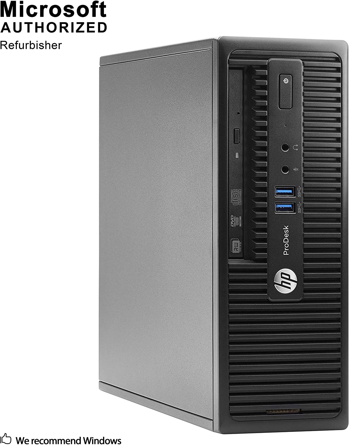 HP ProDesk 400 G3 Small Form Factor, Intel Core Quad i5 6500 up to 3.6 GHz, 12GB DDR4, 1TB SSD, WiFi, BT 4.0, DVDRW, VGA, DP, Windows 10 64-Multi-Language Support English/Spanish/French(Renewed)