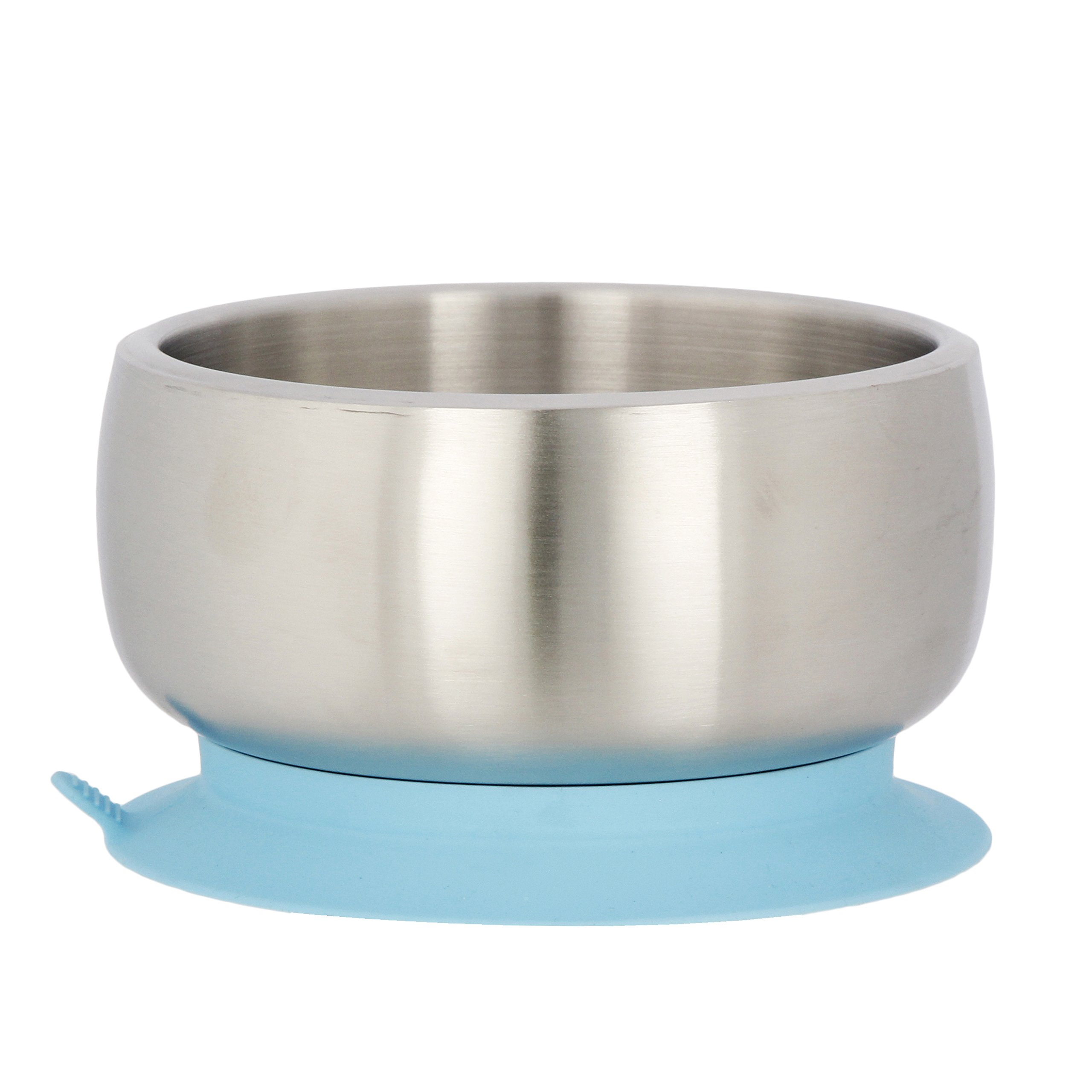 Avanchy Stainless Steel Baby, Toddler Feeding Divided Plate + Bowl + 2 Spoons Giftset. Infant, Kid or Child Gift. 18/8, BPA Free, BPS Free, Lead Free and Phthalate Free. Blue by Avanchy (Image #2)