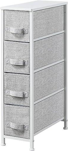 Topeakmart Fabric Dresser Narrow 4-Drawer Storage Tower