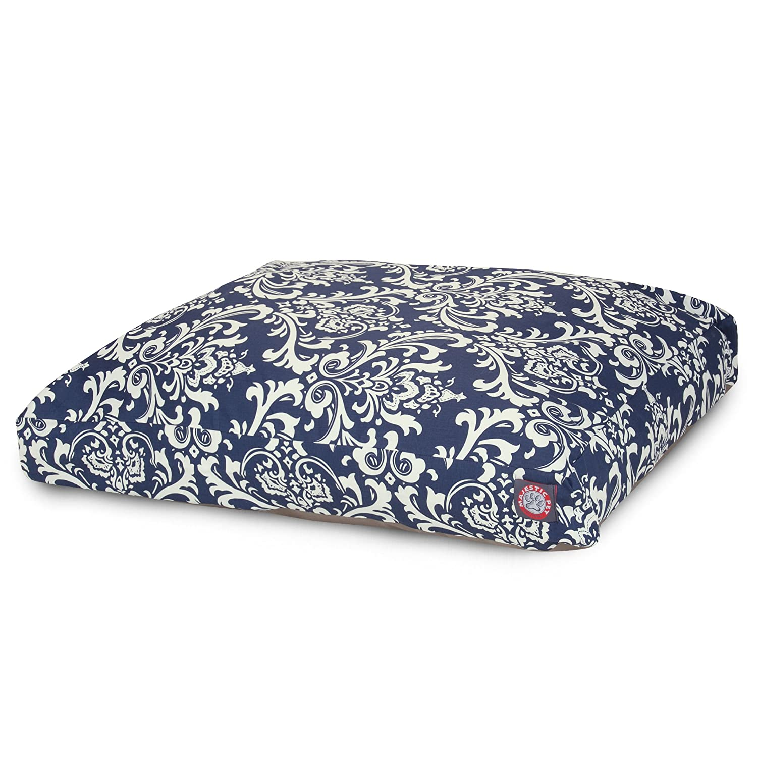 Navy bluee X-Large Navy bluee X-Large Majestic Pet Large Rectangle Pet Bed, Navy bluee French Quarter