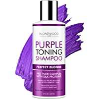 Purple Shampoo for Blonde Hair – Remove Brassiness, Yellow & Overtones – Made in...