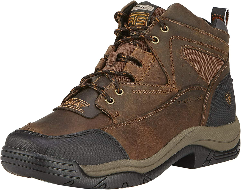Ariat Men's Terrain Wide Square Toe Steel Toe Western Cowboy Boot