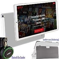 Tablet 10 Pulgadas 4G Android 9.0 + Subwoofer Altavoz Bluetooth(Deportivo), Tablets PC 4GB RAM Octa Core 64GB ROM (Tres Ranuras: 1xMicroSD + 2xSIM) 7500mAh Batería 5MP + 8MP Cámara Tableta (Plata)