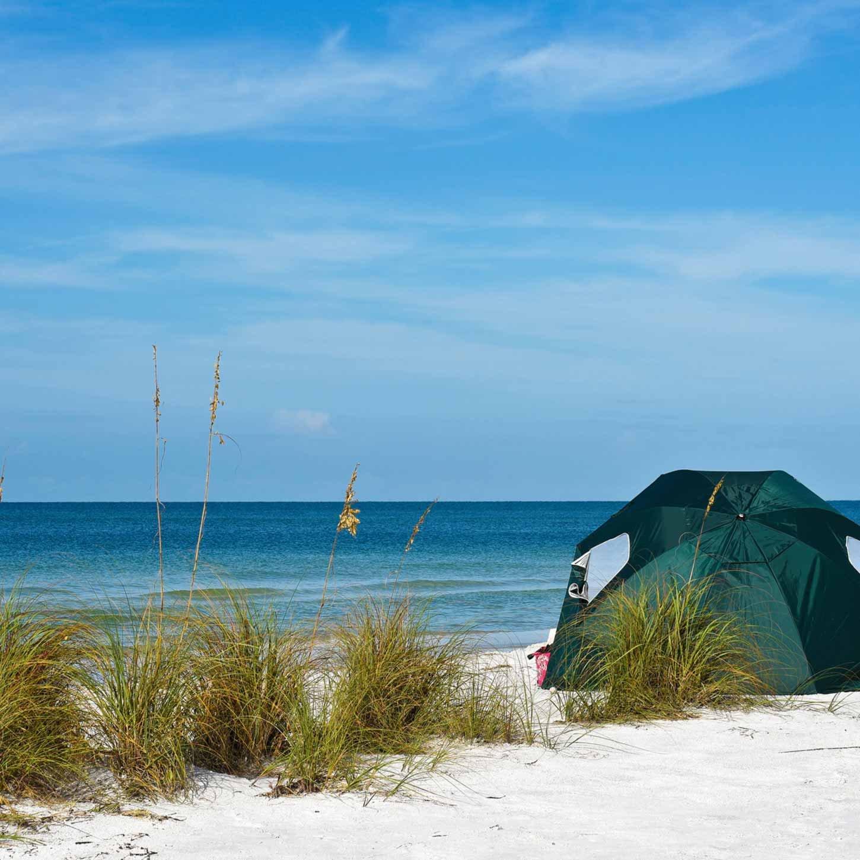 Tienda de campaña para la playa con protección de sol (protección ...