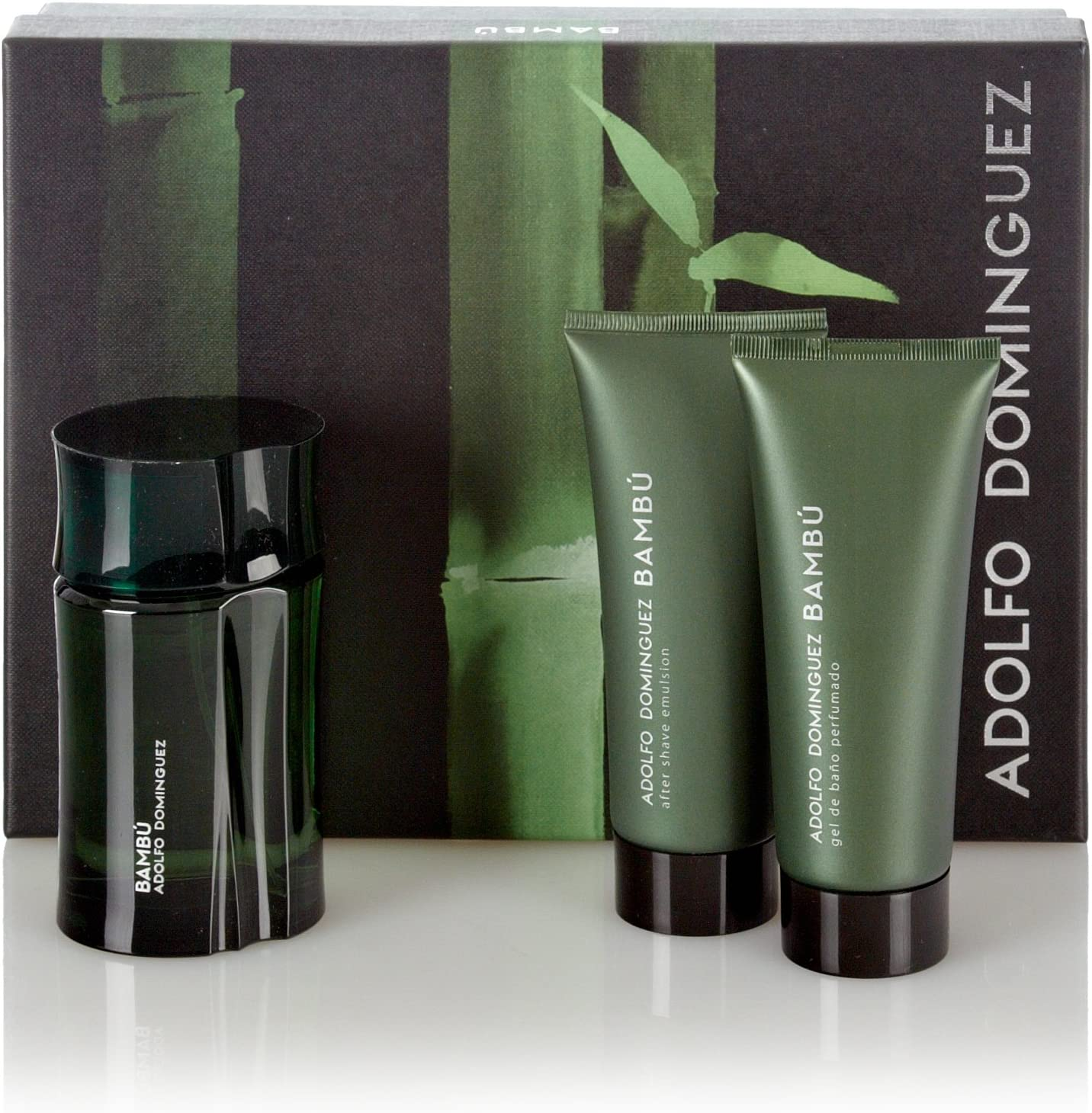 Adolfo Dominguez Estuche Bambú Men Edt 120 ml + After Shave 100 ml + Gel 100 ml: Amazon.es: Belleza